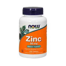 Цинк Now Foods Zinc 50 mg (250 таб) нау фудс