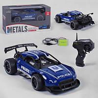 Машина Полиция металл на радиоуправлении металлическая, аккумулятор 3.6V, управление 2.4 GHz
