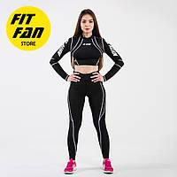 Женский спортивній костюм для фитнеса бега йоги Fit Fan Racer Girl