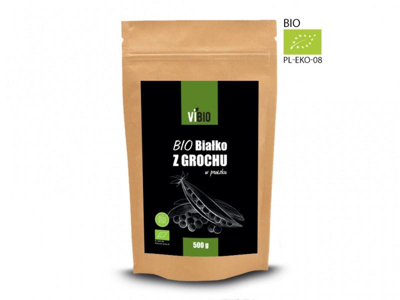 Органический гороховый протеин 500г, Vivio