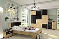 Модульная спальня Миа , шкаф купе Квадро 2100