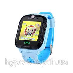 Дитячі розумні GPS-годинник Wonlex Smart Baby Watch GW2000 блакитні