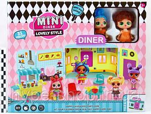 """Ігровий набір \""""Лялечки LOL OMG: Міні кафе з 2 лялечками і аксесуарами\"""""""