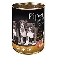 """""""DN Piper junior"""" консервы для щенков и молодых собак с куриными желудками и коричневым рисом 400гр., 24шт/уп."""