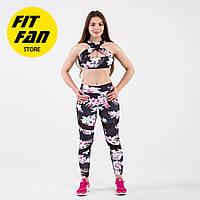 Женский спортивній костюм для фитнеса бега йоги Fit Fan Lily Bloom
