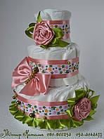 Торт из памперсов Прелесть 4\5 штук