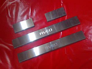 Накладки на пороги CHEVROLET AVEO с 2012 г.в. T300