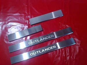 Накладки на пороги стандарт MITSUBISHI OUTLANDER XL