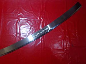 Накладка на задний бампер с загибом MITSUBISHI OUTLANDER XL