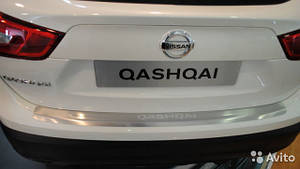 Накладка на задний бампер с загибом NISSAN QASHQAI 2014+