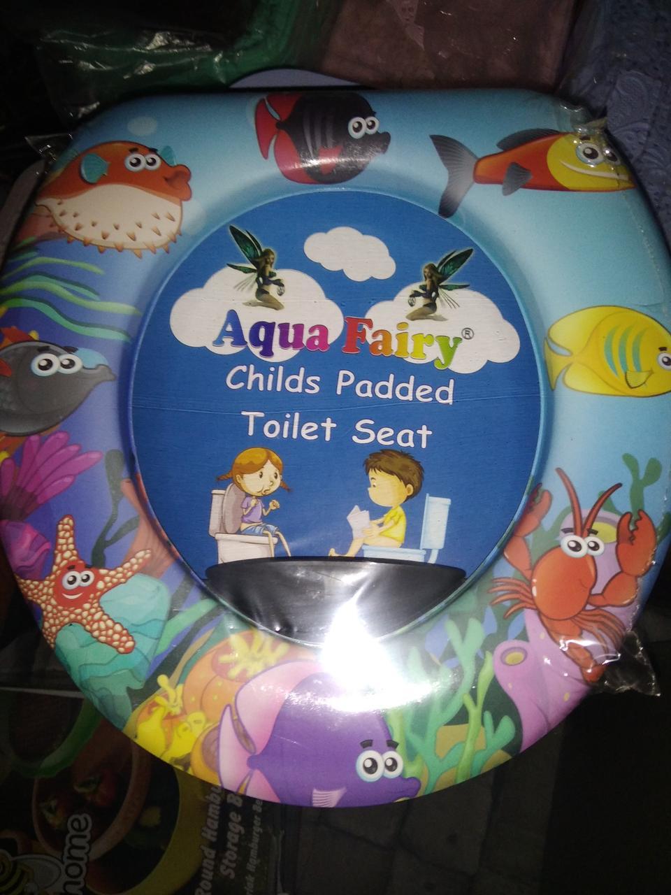 Накладка, вставка дитяча, сидіння для унітазу дитяче ,м'яка, зручна Україна Aqua Fairy