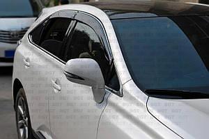 Ветровики с хром молдингом LEXUS RX 270/350 с 2010 г.в.