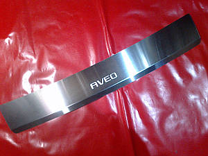 Накладка на задний бампер с загибом CHEVROLET AVEO 3
