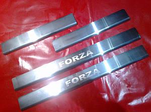 Накладки на пороги ZAZ FORZA