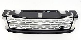 Решетка радиатора Range Rover Sport L494 (14-17) черная + серебро