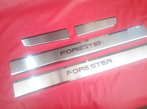 Накладки на пороги Subaru Forester 2008-2012