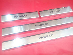 Накладки на пороги премиум Volkswagen Passat B7 USA