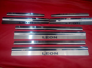 Накладки на пороги премиум Seat Leon 2 2005-2012