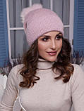 Жіноча шапка Іріда з помпоном натуральним песцовым, фото 8