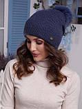Жіноча шапка Іріда з помпоном натуральним песцовым, фото 9