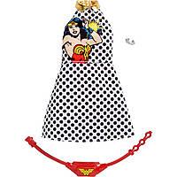 Одежда для куклы Барби Чудо-женщина Белое платье в горох Barbie Complete Looks Wonder Woman Fashion Polka Dot