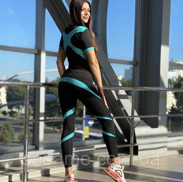 Тренировочный костюм для фитнеса лосины и топ