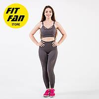 Спортивный костюм женский для фитнеса бега йоги коричневый Fit Fan Pretty Lady