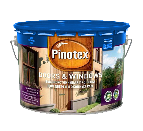 Pinotex (Пинотекс) Doors (Дорс) & Windows (Виндовс) 10л