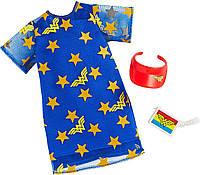 Одежда для куклы Барби Чудо-женщина синее платье со звездами Barbie Complete Looks Wonder Woman Fashion, Blue