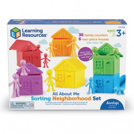 """Игровой набор «Цветные домики» с фигурками """"Семья"""" для сортировки Learning Resources"""