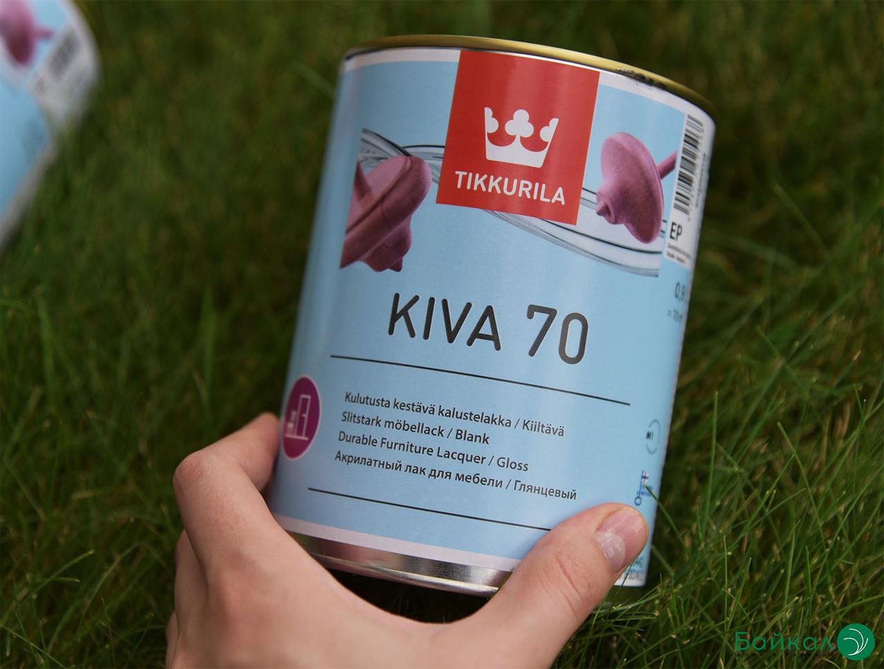 Глянцевый лак для мебели Kiva 70 – Tikkurila (банка 0,9 л)