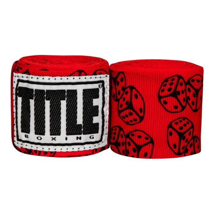 Бинты боксерские эластичные  TITLE Boxing Print Mexican Stile Dice 4,5м