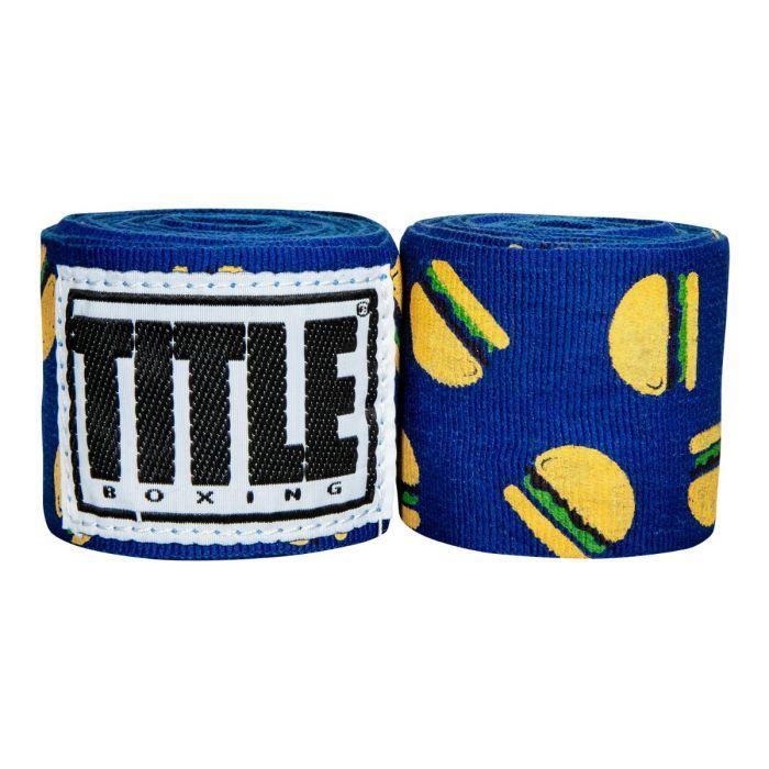 Бинты боксерские эластичные  TITLE Boxing Print Mexican Stile Hamburger 4,5м