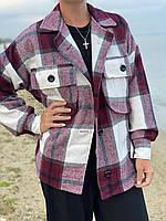 Стильная, очень теплая плотная женская рубашка