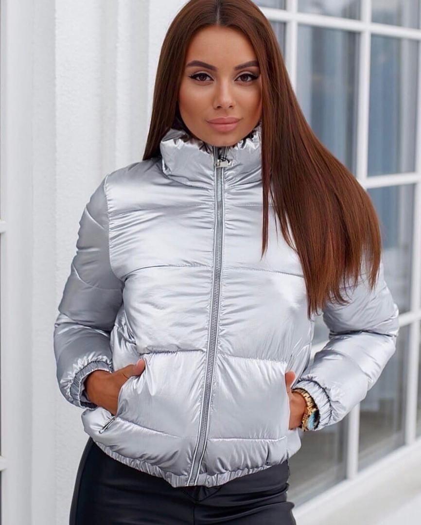 Женственная куртка переливается( 3 цвета)