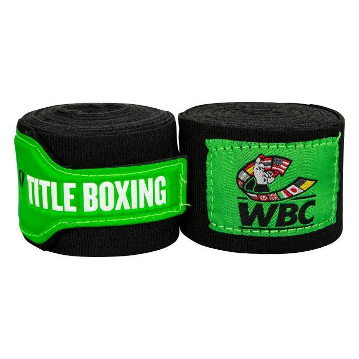 Бинты боксерские эластичные  TITLE Boxing  WBC Black 4,5м