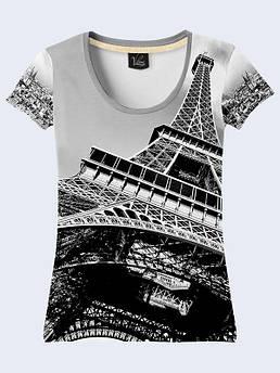 Женская футболка с принтом Эйфелевая башня