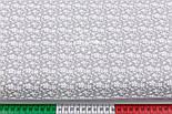 "Ткань бязь ""Цветочная полянка"" белая на сером, №2935а, фото 2"