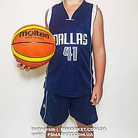 """Баскетбольная детская форма """"DALLAS"""" NOWITZKI, фото 1"""