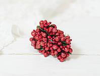 Добавка с ягодками красного цвета 12 шт в глиттере тяжелые