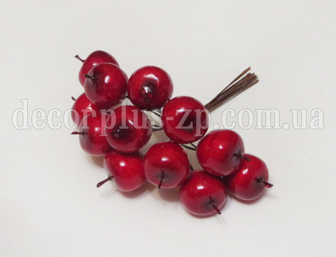Яблочки 2*2см в пучке, красные