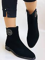 Женские ботинки. На маленьком каблуке. Натуральный замш.  Polann.  Р. 35.36.37.38.39  Vellena, фото 3