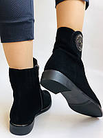 Женские ботинки. На маленьком каблуке. Натуральный замш.  Polann.  Р. 35.36.37.38.39  Vellena, фото 10