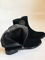 Женские ботинки. На маленьком каблуке. Натуральный замш.  Polann.  Р. 35.36.37.38.39  Vellena, фото 9