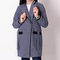 Кардиган для девочки на молнии с карманами синий тм Mevis размер 134,140,152,158 см