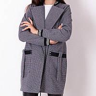 Кардиган для девочки на молнии с карманами серый тм Mevis размер 134,140,158 см