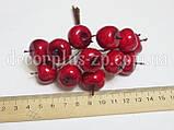 Яблочки 2*2см в пучке, красные, фото 2