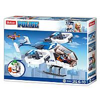Конструктор SLUBAN M38-B0823 поліція, гелікоптер, фігурка, 161 дет., кор., 24-19-4,5 см.
