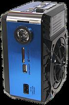 Радиоприемник Golon RX-9133 Синий - радиоприемник от сети с аккумулятором и фонариком, портативная USB колонка, фото 3