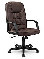 Кресло стул офисный кожаный Sofotel EG-236 коричневый